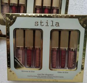 6 Farben Stila Auge für Eleganz Makeup begrenzten Neue Ankunft !!! Ausgabe Flüssiges Lidschatten Set Kosmetik Erde Farbe Lidschatten Make-up Set