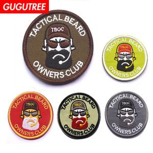 GUGUTREE HOOkLOOP ricamo tattico barba patch patch militari patch di applique patch per abbigliamento SP-578