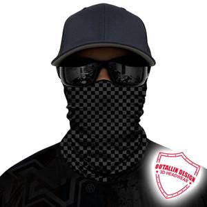 3D plaid della fascia del Bandana Bandiera Buff Skull camuffamento Visiera Camping corsa sciarpa tubo Headwear asciutto rapido respirabile
