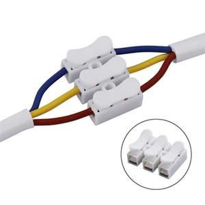 CH-3 250V 스프링 와이어 빠른 커넥터 스플 라이스 (용접 없음) 나사 없음 케이블 클램프 터미널 3 방향 Easy Led Strip