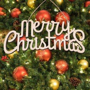 grandes pingentes ornamentos monograma decorações de madeira de férias letras madeira Feliz Natal granel pendurado partido biodegradble interior