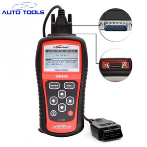 10pcs lot Hot Sale OBD2 Scanner KW808 Car Diagnostic Code Reader CAN Engine Reset Tool Auto Scanner Coverage(us Asian & europe)