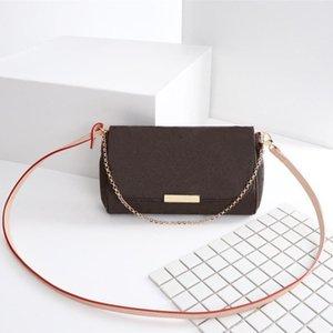 جلد حقيقي حقائب 40718 فاخر المفضلة موضة حقائب CROSSBODY المرأة حقيبة تصميم المفضلة سلسلة الفاصل جلدية رفرف حقيبة عملة حقيبة