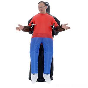 Aufblasbare Geist Kostüm Halloween Andere Spielzeug-Partei-Skelett Teufel Cosplay Kleid Erwachsener Aktivität Arrangement Props Q6PD