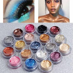Qibest Glitter 25Color simple fard à paupières crème imperméable longue Dure pigment Shimmer métallique palette ombres à paupières cosmétiques coréenne
