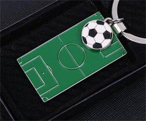 Fußballplatz Schlüssel Ring Auto Anhänger Schlüssel Schnalle Männer Und Frauen Liebhaber Schlüsselbund Metall EDC Party Geschenk Beliebte