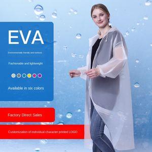 Non-disposable thickened adult Disposable thickened travel eva light raincoat outdoor travel EVA light raincoat