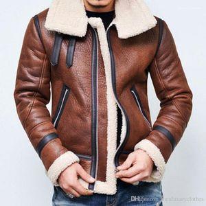 Cashmear de lã de gola Windbreaker Jacket Coats inverno quente grossa Jaquetas de couro dos homens