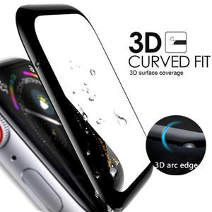 Elma İzle 3D Kavisli Full Tutkal temperli cam Ekran Koruyucu 38 40 42 44mm Ekran Film Etki Dayanıklı PVC Perakende Paketleri İçin
