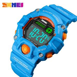 SKMEI New Kids relojes de pulsera digital resistente al agua 50M alarma caja de plástico Niños Niñas reloj 1484 reloj