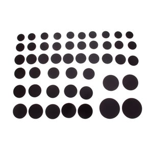 10/5 / 2Pc ronde magnétique Réfrigérateur Autocollant Fit Cabochon en verre 25-58mm aimant DIY réfrigérateur aimant Tableau noir autocollant