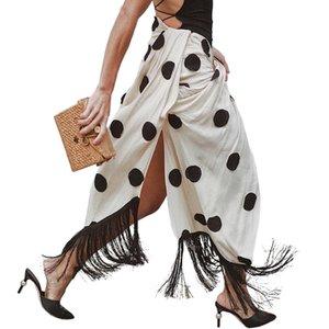 AEL High Split Skirt Draped Asymmetric Woman New Summer Romantic 2019 Fashion Female Clothing Exclusive Customization Y200704