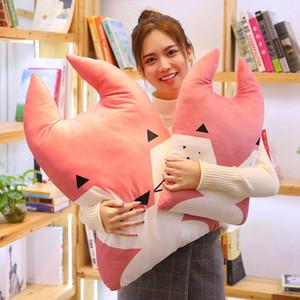 Estilo nórdico Conejo Oso Fox Owl Perro Almohada Cojín Juguetes, suave algodón animales de peluche, juguetes para niños, decoración de la habitación del bebé