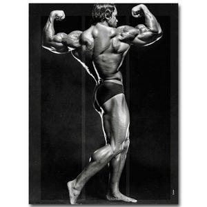 Oda Duvar Dekor 007 Arnold Schwarzenegger Vücut Geliştirme Motivasyon Sanat İpek Poster Baskı Spor İlham Resim