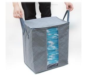 Quilt-Kleidung-Speicher-Beutel Thick Vlies Tragbarer Kleiderschrank Veranstalter Speichern Raum Folding Anti-Staub-Beutel-Kasten für Kissen Blanket EEA1410-8