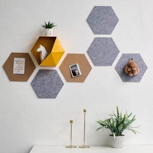 9mm Hexagon Felt Board Self Adhesive Bulletin Memo Photo Cork Boards Colorful Foam Wall Decorative Tiles