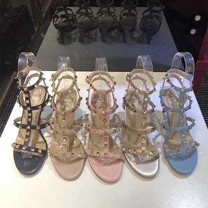 2020 Mode Schuhe Designer Luxus hohe Absätze für beiläufige Partei Schuhe Sommer Sexy Sandalen nackte Farben-Patent Ferse matte Toes Frauen-Pumpen-Schuhe