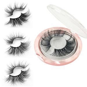 5D 25mm Mink cílios postiços Natural longos e grossos macias Winged Lashes Maquiagem para olhos Handmade Colorfull Falso pestana HHA-386