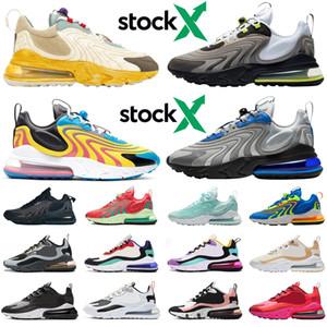 Nike Air Max Airmax 270 270s reagieren ENG Lager x Travis Scott Männer Frauen Laufschuhe Neon Triple Athletic Herren Trainer Sport Turnschuhe Läufer
