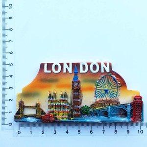Avrupa İNGILTERE Londra Göz dönüm noktası bina Big Ben Parlamento Binası Turist Hatıra Buzdolabı Mıknatısı