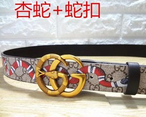 2019 Designer Relaxation Belts for Mens Belts Designer Belt Snake Belt Real Genuine Leather Business Belts Women Big Gold Buckle with