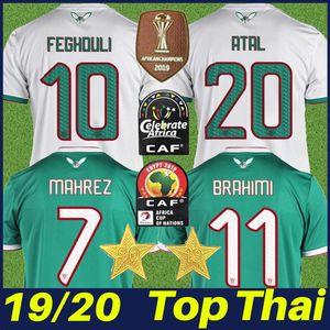 Cezayir Üniformalı camisa 2019 Afrika Kupası Cezayir Mahrez Futbol Jersey 2 yıldız ATAL Feghouli Belaïli BOUNEDJAH Brahimi futbol Gömlek fanlar
