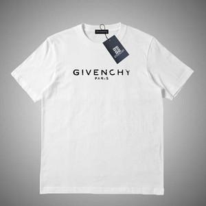 Givenchy Mulheres Homens Verão Camiseta Marca Designers camisetas com letras respirável manga curta Mens Tops T-shirt Atacado