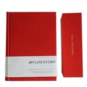 960P 빈티지 패션 두꺼운 일기 Hardcover 노트북 27*19*6.5cm 라인 노 생활 일기 상자 설정 배송