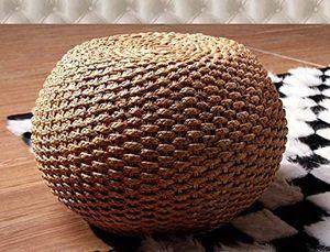 Handgefertigte Rustikale Strohballen Pouf Ottoman Rattan Geflochtene Boden Sitz Runde Fußbank Fußablage Pouffe Sitzen Wohnkultur Kleine Furnitureom