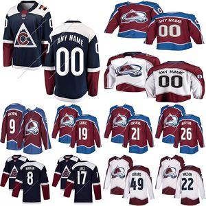 Colorado Avalanche pullover su ordinazione 29 Nathan MacKinnon 8 Cale Makar 49 Samuel Girard 21 Peter Forsberg qualsiasi numero qualsiasi nome hockey jersey
