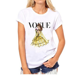 VOGUE punk prinzessin druck T-shirt 2016 sommer mode frauen t-shirt lustige Harajuku kurzarm casual tees lovrly tops