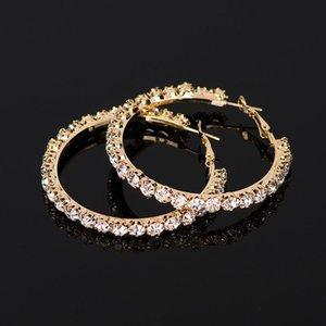 2020 New Crystal Rhinestone Earrings Women Gold Sliver Hoop Earrings Fashion Jewelry Earrings For Women