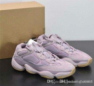 Новейший Дизайнер 500 Soft Vision Кроссовки Kanye West Purple Wave Runner Fashion Look Sport Sneaker