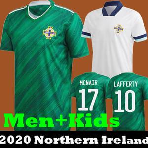 Os mais recentes qualidade Tailândia 2020 2021 Irlanda do Norte 20 21 Irlanda do Norte Futebol casa EVANS LEWIS MAN KIDS camisas de futebol LAFFERTY