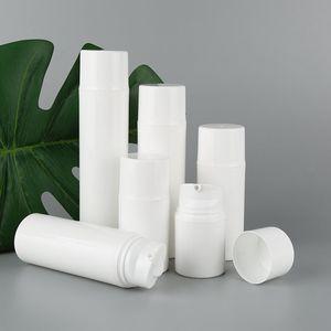 30 ml 50 ml 80 ml 100 ml 120 ml 150 ml blanc PP airless bouteille pompe à vide bouteille utilisée pour le contenant cosmétique F2525