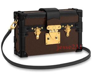 Top-Qualität Frauen Kulturbeutel Clutch Umhängetasche PETITE MALLE Canvas Icons Handtasche M44199 Schulter Box Taschen Größe: 20 cm * 12 cm * 5 cm