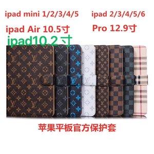 "Para ipad pro 12,9 / AIR3 pro10.5 / 10.2"" / ipad2 3 4 5 6 / mini1 2 3 4 Designer Luxo suporte de couro Vintage clássico do caso de IPad Mini5 mini4 A11"