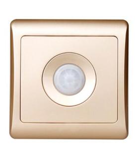 القادمون الجدد 220V جدار المنزل الذكي أدى الأشعة تحت الحمراء التحكم تأخير الموفرة للطاقة أضواء مصابيح استشعار الحركة ضوء التحول