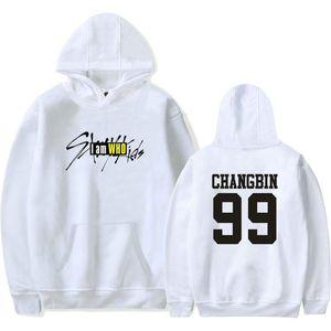 Nombre para hombre de Kpop Straykids sudaderas unisex informal suéter de Stray Niños miembro Impreso de manga larga con capucha mujeres camiseta