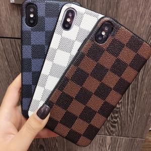 Nova marca de moda grade padrão phone case para iphone x case xs max 8 plus couro de imitação anti queda iphone 6 casos frete grátis