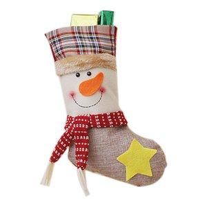 Decorazioni di Natale Natale libero che immagazzina Clthes Babbo calzini regalo per il nuovo anno del regalo Candy Bags For Kids (Christma