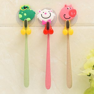 Cloth Sponge Holder Free Shipping Animal Cute Cartoon Suction Cup Toothbrush Holder Bathroom Accessories Set Wall Suction Holder Tool