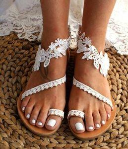 Women summer Sandals dlippers Flat shoes lace Open Toes solid color Beach Sandas beachwear Bohemia Platform Cross-Tie Cross-Tie stylish 0053