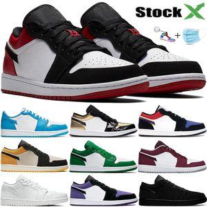 Uomo Donna 1 1s bassi scarpe da basket Jumpman QS Lance Mountain UNC Top 3 viola corte triple nero sneakers stilista bianco con maschera