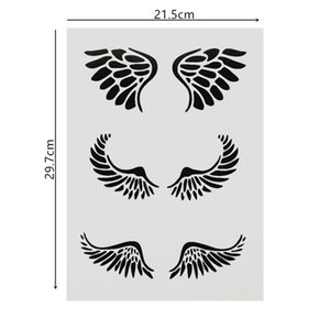 DIY Painting A4 Size Angel Swings Pattern Reusable Stencil Templates For Wall Furniture Fabric Painting Photo Album Decorative