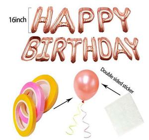 Feliz Cumpleaños establece juguetes para niños de bodas del impulso del aire Moda decoración de alta calidad de las bolas de aire envío