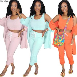Women Three Piece Set Pants Jogger Suit Tracksuit Outfits