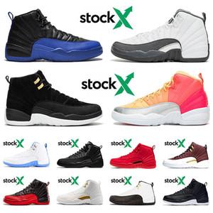 Nike Air Jordan Retro 12 2020 Yeni Jumpman 12 12s XII Erkek Koşu Ayakkabı Sıcak Punch Taksi ov beyaz Koyu Gri Michigan moda spor ayakkabıları eğitmenler bize 13 boyutu