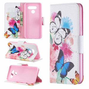 Luxury Leather Wallet Case For LG Stylo 5 4 G7 Q8 K40 K50 Q60 Don't Touch My Phone Owl Flower Butterfly Feather Bear Slot Flip Cover Pouch
