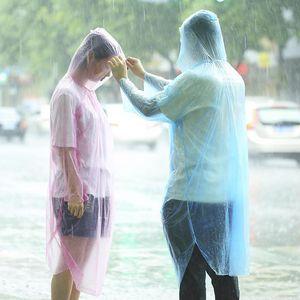 Mode Einmaliger Raincoat Hot Wegwerf-PET Einweg-Regenmäntel Poncho Regen Reise-Regen-Mantel Regen-Bekleidung Raincoat Wasserdicht